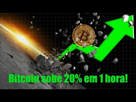 Bitcoin sobe 20% em 1 hora! Altcoins disparam: Verge, Ontology, Wanchain…