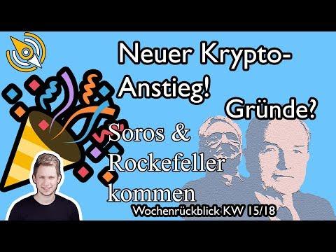 Bitcoin-ABSTIEG BEENDET ? | Kommen Soros & Rockefeller? ? | Golem (GNT) erwacht! | KW 15/18