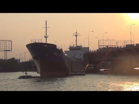 Tàu chở hàng ngàn tấn đứt neo, mắc kẹt dưới cầu Đồng Nai