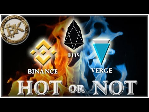EOS – Binance – Verge XVG 🔥🌧 Best Crypto to Invest 2018 | Cryptocurrency Market News Headlines