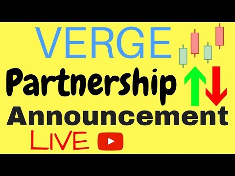Verge (XVG) Partnership Announcement LIVE – Big or Not?