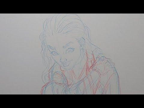 Dibujando a Ada de Psychotopia y Respondiendo Preguntas