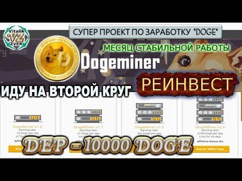 ??? DogeMiner ЗАРАБОТАЛ 200000 DOGE !!! ДЕЛАЮ РЕИНВЕСТ – ИДУ НА ВТОРОЙ КРУГ !!!