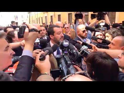 """MATTEO SALVINI CON I GIORNALISTI """"SPERO CHE OGGI SIA IL GIORNO BUONO"""""""