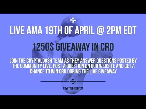 ? CryptalDash AMA Live – 19th April 2 PM EDT (Cryptocurrency Exchange & ICO)