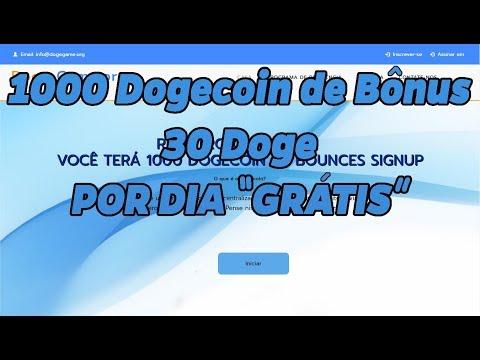 """DogeGame / 1000 Dogecoin de Bônus + 30 Doge """"GRÁTIS"""" Por Dia"""