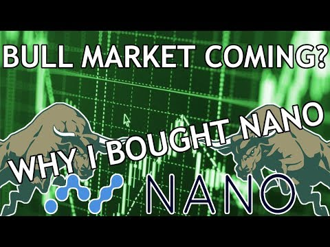 Cryptocurrency Bull Run Incoming? | Why I Bought NANO!
