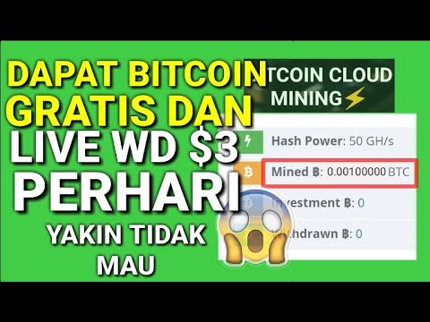 Website mining bitcoin gratis & live Withdraw $3.00 | info pemenang giveaway