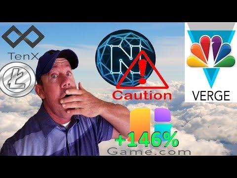 Game.com Coin Review! – Caution: Ncash – Verge on NBC! – LTC & TenX