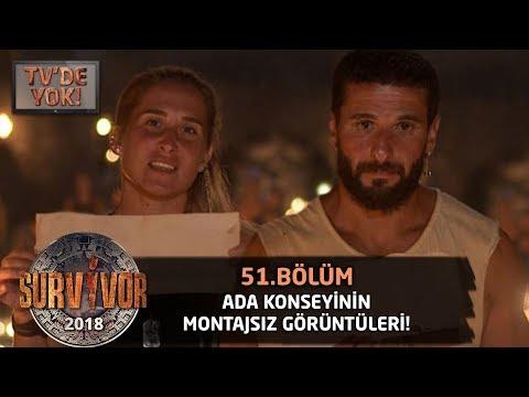 TV'DE YOK | Ada konseyinin montajsız görüntüleri | 51. Bölüm | Survivor 2018