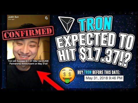 TRON (TRX) Expected to Jump to $17.37 After May 31st!? HERES PROOF! TRX Price Prediction 2018