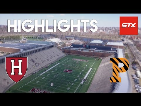 Harvard vs Princeton Lacrosse Highlights // Senior Day // STX