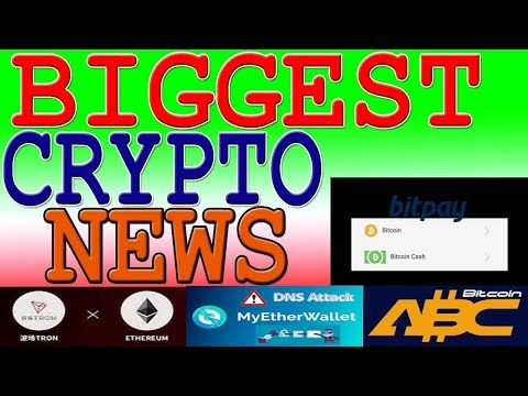 Latest Cryptocurrency News | BitcoinCash Hardfork | Tron Airdrop & New Office  | Bitpay accept BCH