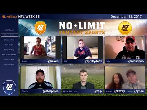 No Limit Fantasy Football Week 15 DFS Experts Show