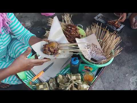 SATE AYAM MADURA YANG ADA DI PINGGIR JALAN JOGJAKARTA | INDONESIAN STREET FOOD