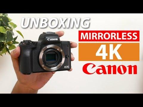 Unboxing Kamera Mirrorless 4K Pertama Canon | EOS M50 Indonesia