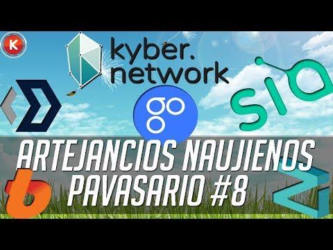 Kyber Network staigus kilimas, Zilliqa , SIA Coin ir kitos artėjančios naujienos