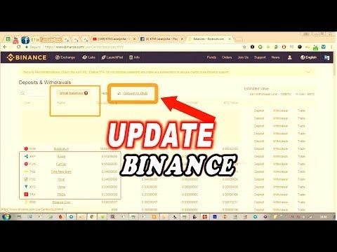 Update Binance! Como Converter os Saldos Pequenos para BNB Binance Coin. Saldos menores que 0.001BTC