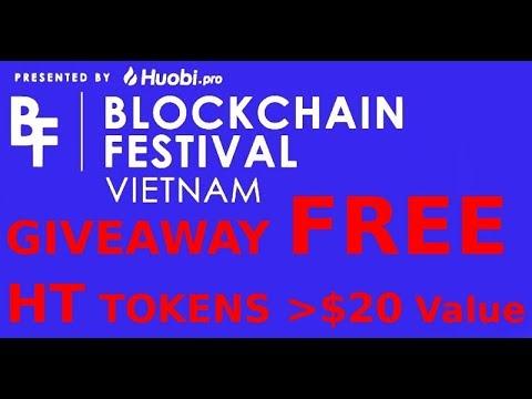 TOKEN GIVEAWAY #2 Huobi + Kyber Blockchain Festival Vietnam 2018