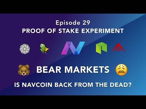 Proof of stake experiment episode 29 – Bear Market? – is NAV back? Recommended coins