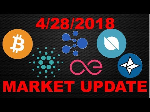 Market Update 4/28/2018: Bitcoin (BTC),Ontology (ONT), Cardano (ADA), Aelf (ELF), Nebulas (NAS)