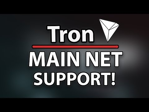 TRON (TRX) NEW MAIN NET SUPPORT BY BITTREX! (Token Conversion!) & Top 10 Crypto!