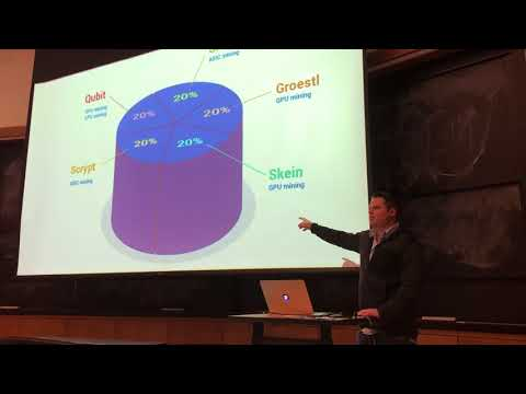 Jared C. Tate, founder of DigiByte Blockchain, speaking at MIT Blockchain Club 10APR18