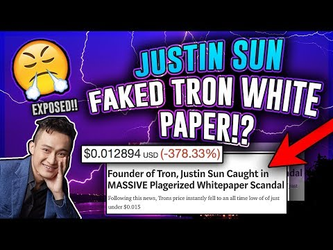 Is TRON (TRX) a Scam!? The Real Truth About Tron! Justin Sun Fakes Whitepaper!? Tron Crypto Review