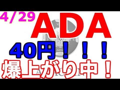 【仮想通貨】やはりキタ!!ADA爆上がりスタート中!!