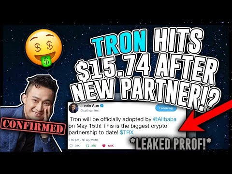 TRON (TRX) HUGE Partnership! *LEAKED PROOF* TRX Expected to Moonshot to $15.74 After Announcement!?