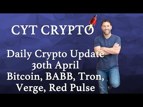 Daily Crypto Update -Tron, Verge, BABB, RedPulse, Bitcoin, ELEC