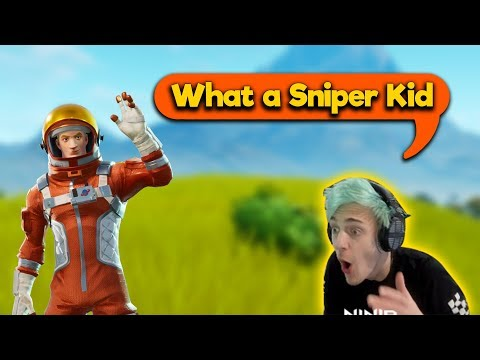 Ninja GOT SOCKED Reacting to a SNIPER KID on (BCC Trolling )