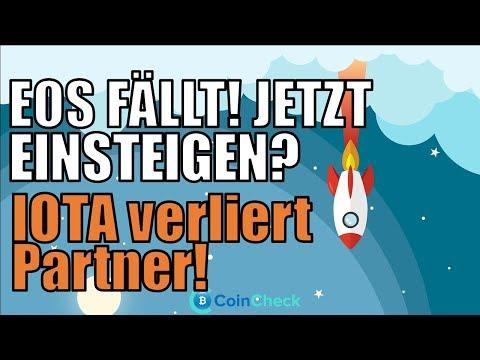EOS Dip kaufen? Insider traden Verge! IOTA Partnerschaft