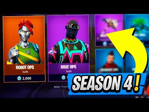 Season 4 ALL SECRET SKINS! | Robo Ops and Neo Man ( Fortnite Skin Update )