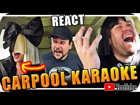 SIA & JAMES CORDEN KARAOKE – Marcio Guerra Reagindo React Reação