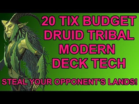 20 Tix Budget Druid Tribal Modern Magic the Gathering Deck Tech!