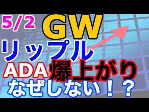【仮想通貨】GW突入もリップル、ADAが爆上がりなし!?