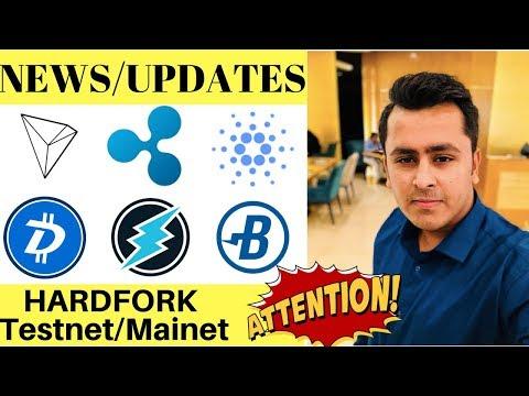 Ripple / Cardano / Tron / Electroneum / Burst / DGB IMPORTANT UPDATES – HARD FORK & NEWS !