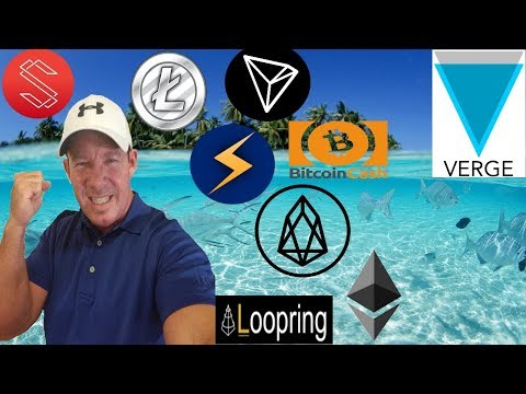 XVG cut in Half! SUB added to coinbase? BCH vs PirateBay! Crypto Bank ATM's! –  EOS LTC TRX LOOM