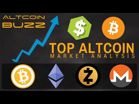 Top Cryptocurrency Altcoin Analysis – BTC, ETH, ZCASH and MONERO
