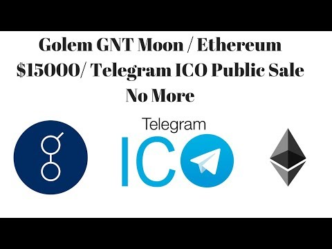 Golem GNT Moon / Ethereum $15000/ Telegram ICO Public Sale No More
