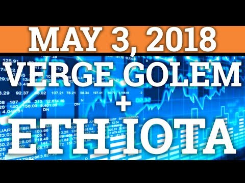 VERGE XVG, ETHEREUM ETH, GOLEM GNT, IOTA MIOTA | BITCOIN BTC + CRYPTOCURRENCY PRICE PREDICTION 2018