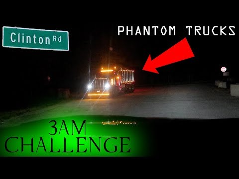 DO NOT GO TO CLINTON ROAD AT 3AM CHALLENGE (CHASED BY THE GHOST TRUCK) *OMG*