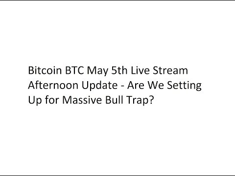 Bitcoin BTC May 5th Live Stream Afternoon Update – Are We Setting Up for Massive Bull Trap?