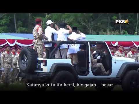 Langsung dari Pasuruan Apel Kader GERINDRA ada Presiden PKS