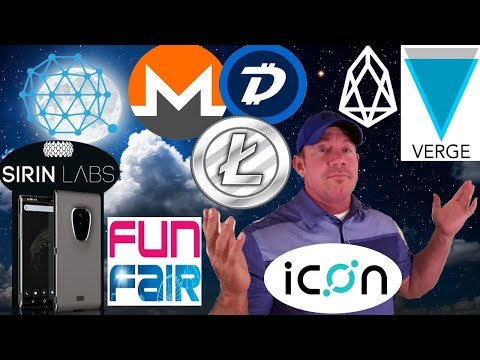 XVG News – FINNEY crypto phone – EOS 2x in May! –  Microsoft Blockchain  FUN DBG EOS LTC QTUM