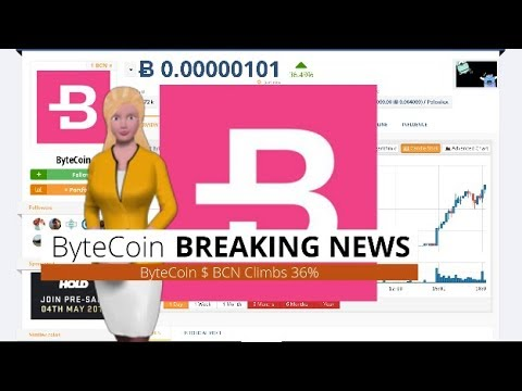 Cryptocurrency ByteCoin $BCN Soars 36% Over the Past Day