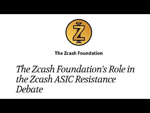 Zcash Give Statement on ASIC Resistance Debate