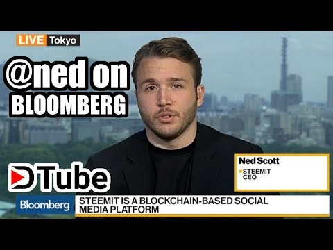 Steemit CEO @ned on Bloomberg! Whole Interview and Commentary by @reseller