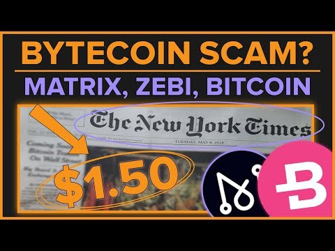 $BCN Listing Dev P&D? Bitcoin NYT Front Page – Matrix ATH